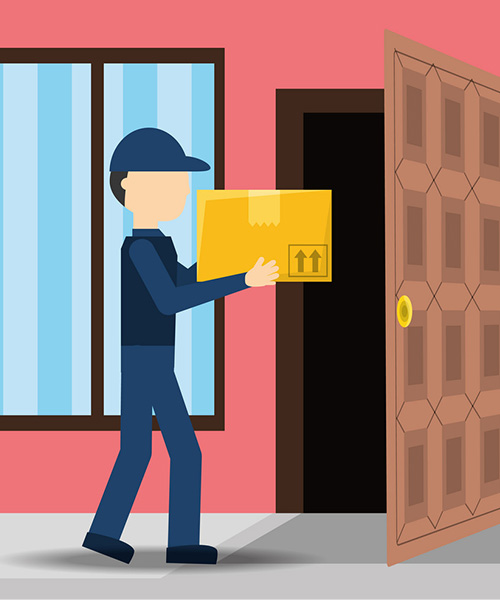 Door to door delivery services in India